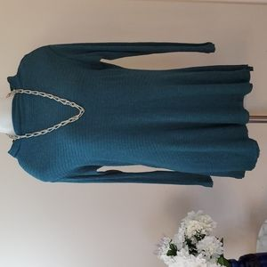 We The Free Sweater Tunic Teal xs Small
